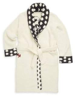 Barefoot Dreams Little Girl's& Girl's Minnie Mouse Polka-Dot Flannel Robe