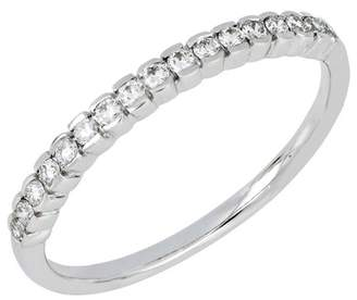 Bony Levy 18K White Gold Diamond Bar Ring - 0.19 ctw