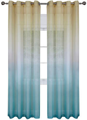 Asstd National Brand Rainbow Sheer Grommet-Top Curtain Panel