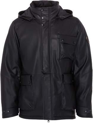 Trickcoo Detachable hood leather down unisex jacket