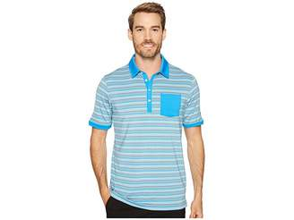 Puma Tailored Pocket Stripe Polo Men's Short Sleeve Knit