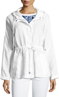 Tommy Bahama Two Palms Hooded Linen Jacket, White $99 thestylecure.com