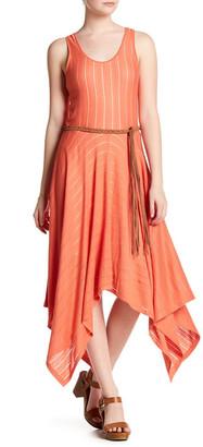 Cullen Sheer Stripe Handkerchief Hem Dress $274 thestylecure.com