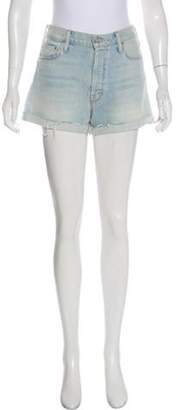 Mother Mid-Rise Shorts blue Mid-Rise Shorts