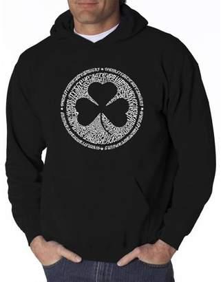 Pop Culture Men's hooded sweatshirt - lyrics to when irish eyes are smiling