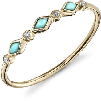 Sydney Evan Turquoise And Bezel Ring