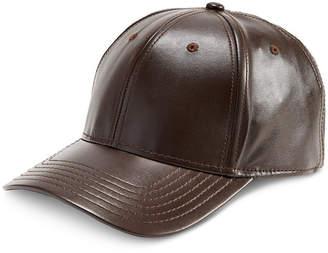 INC International Concepts I.n.c. Men Faux-Leather Baseball Cap