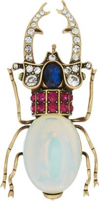 Joan Rivers Classics Collection Joan Rivers Private Collection Simulated Opal Beetle Brooch