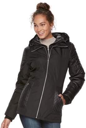 Details Women's Mixed-Media Puffer Jacket