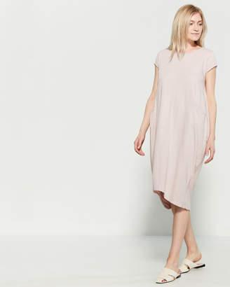 Made In Italy Side Pocket T-Shirt Midi Dress