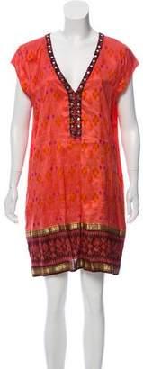 Calypso Printed Silk Mini Dress