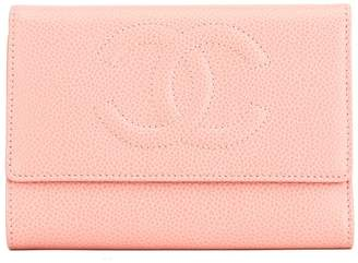 Chanel Pink Calfskin CC Trifold Wallet (4028003)