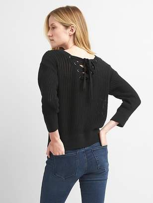 Lace-back three quarter sleeves $44.95 thestylecure.com