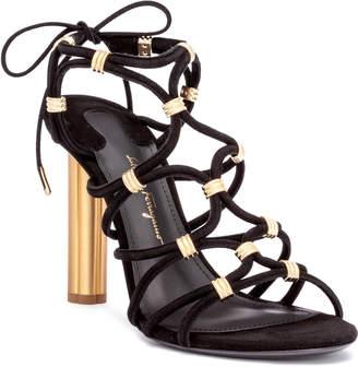 Salvatore Ferragamo Fiuggi 105 black suede sandals