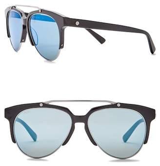 MCM Men's Semi-Rimless 57mm Acetate Frame Sunglasses