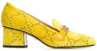 Gucci velvet GG logo loafers