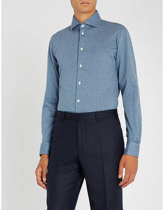 Richard James Dotted slim-fit cotton-jersey shirt