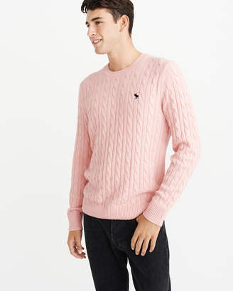 Abercrombie & Fitch Icon Cable Knit Sweater