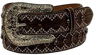Nocona Belt Co. Women's Chevron Edge Tone Bling Belt