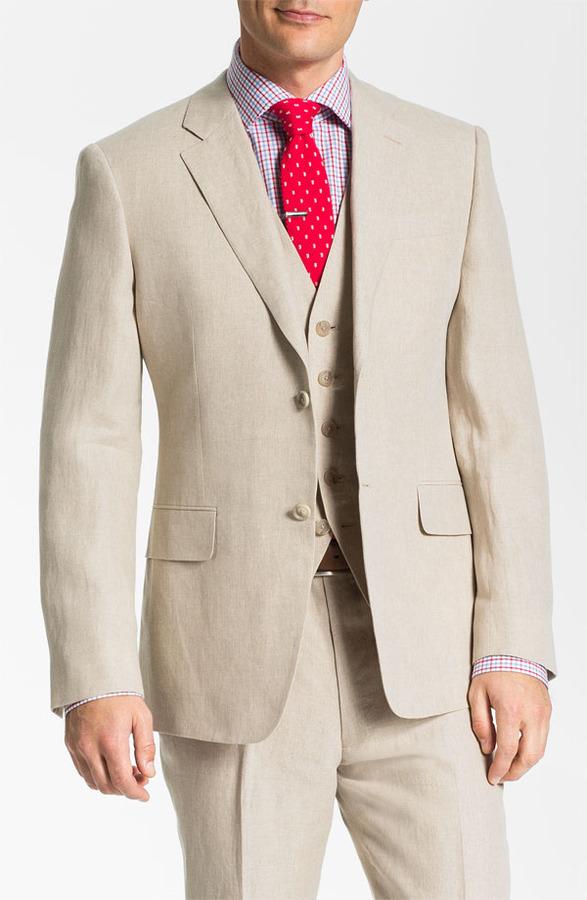 John W. Nordstrom Linen Sportcoat 44R