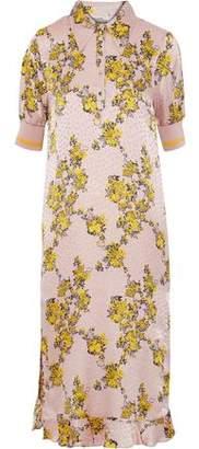 Baum und Pferdgarten Aksinja Floral-Print Silk-Jacquard Midi Dress
