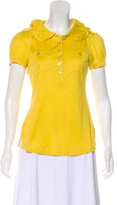 Marc by Marc Jacobs Collared Short Sleeve Top