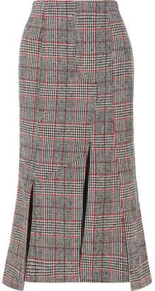 McQ Prince Of Wales Checked Wool-blend Midi Skirt - Black