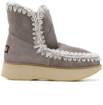 Mou chunky heel boots