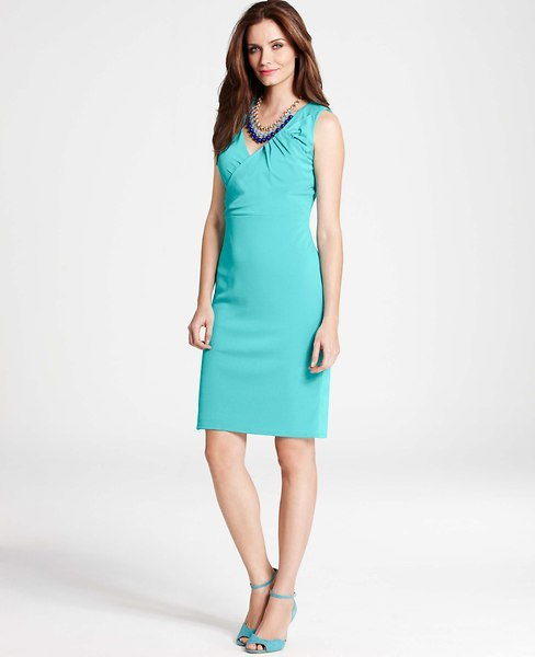 Ann Taylor Crepe Bow Dress