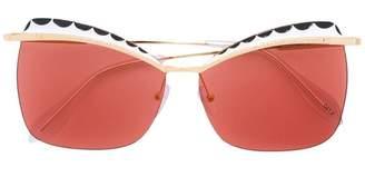 Alexander McQueen Eyewear square cat eye sunglasses