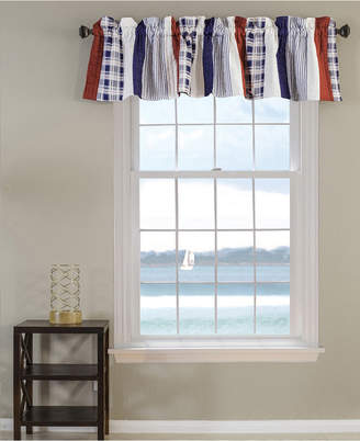 Greenland Home Fashions Nautical Stripe Window Valance, Quilted