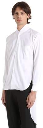 Comme des Garcons Long Poplin Shirt W/ Bomber Collar