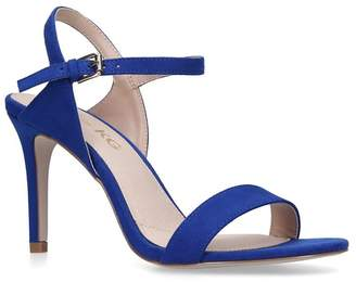Miss KG - Blue 'Poppy' Mid Heel Sandals