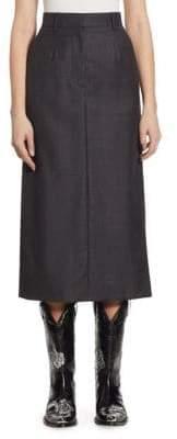 Calvin Klein Wool Checked Skirt