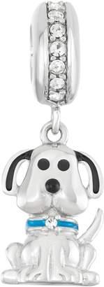 Hsus HSUS Sterling Silver Crystal Dog Charm