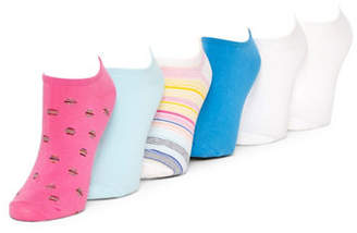 Hue Six-Pair Assorted Liner Socks