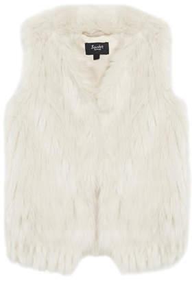 Bardot Faux-Fur Waistcoat, Size 8-16