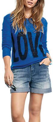 Hush Love Slogan Jumper, Blue