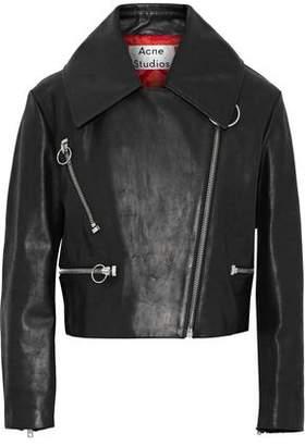 Acne Studios Meyer Brushed-Leather Biker Jacket