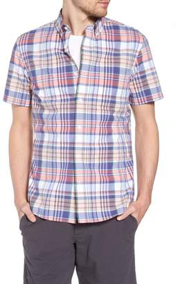 1901 Trim Fit Plaid Short Sleeve Sport Shirt