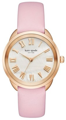 Women's Kate Spade New York Crosstown Leather Strap Watch, 34Mm $195 thestylecure.com