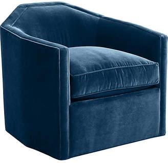 Mr & Mrs Howard Speakeasy Swivel Glider Chair - Denim Velvet
