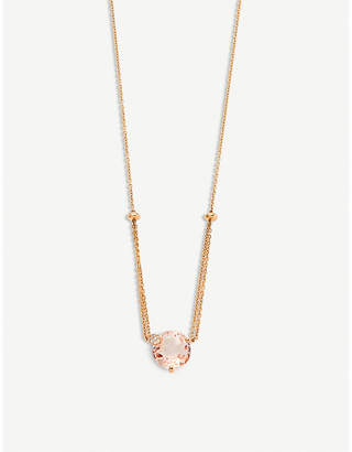 Rosegold BUCHERER FINE JEWELLERY Peekaboo 18ct rose-gold, morganit and diamond necklace