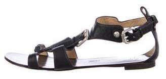 Giuseppe Zanotti Leather T-Strap Sandals