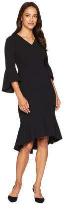 Calvin Klein V-Neck Bell Sleeve Dress with High-Low Hem CD8C19NG Women's Dress