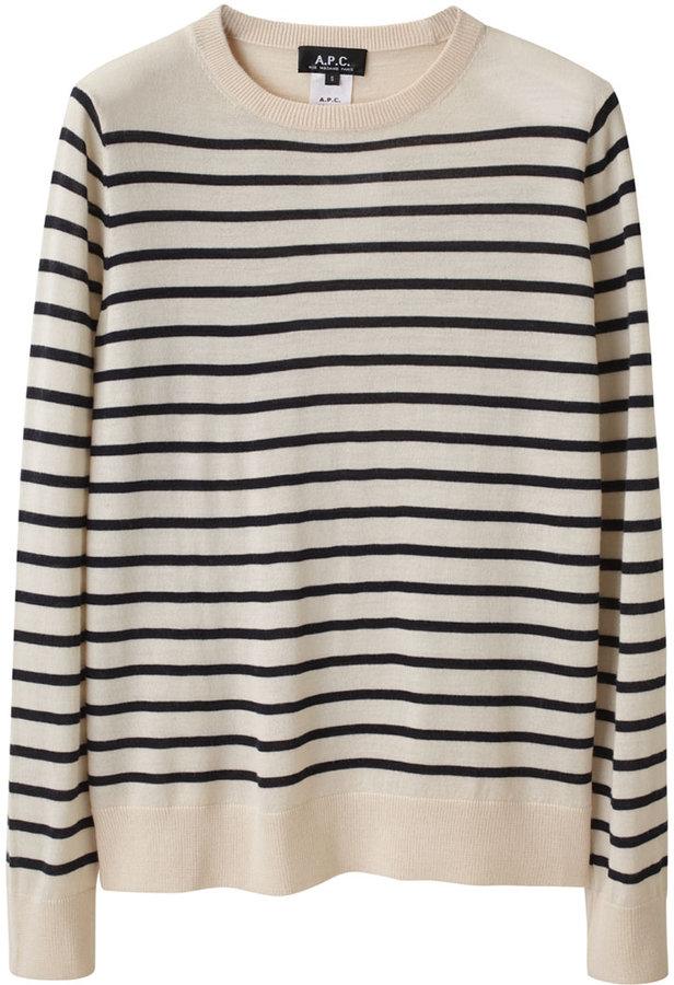 A.P.C. / Striped Merino Pullover
