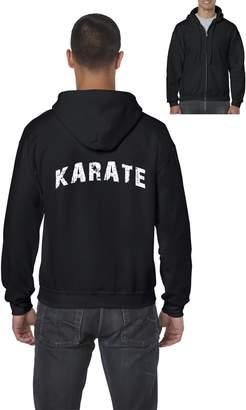 Ugo KARATE Uniform Match w Karate Belt Uniform Kids Headbands Full-Zip Men's Hoodie