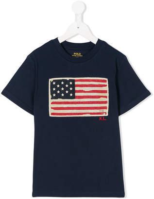 Ralph Lauren USA flag embroidered T-shirt