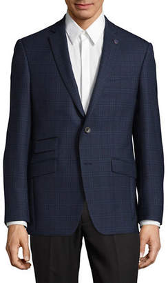 Ted Baker NO ORDINARY JOE Windowpane Wool Suit Jacket