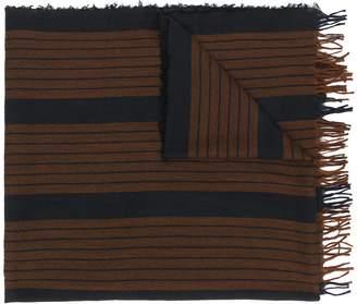 Uma Wang fringed striped scarf